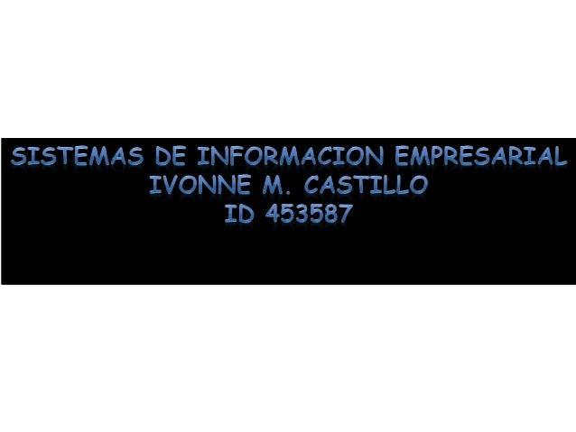 SISTEMAS DE INFORMACION EMPRESARIAL Es el conjunto de recursos de la empresa utilizados como soporte para el proceso básic...