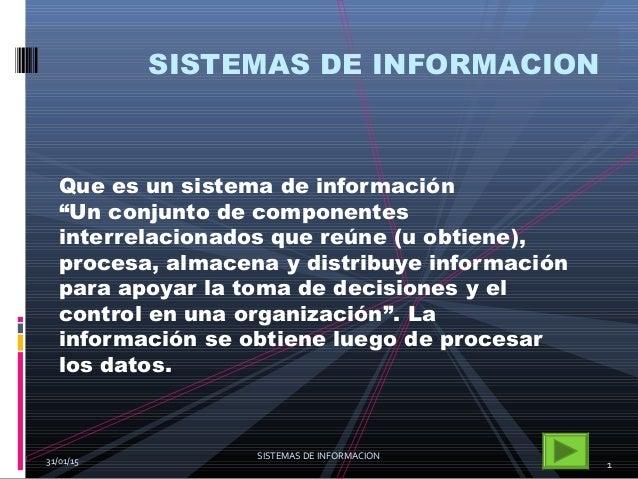 Sistemas de informacion mercado