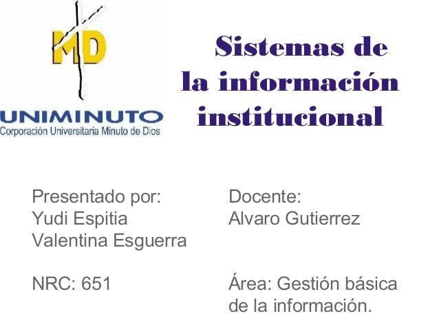 Sistemas de la info institucional
