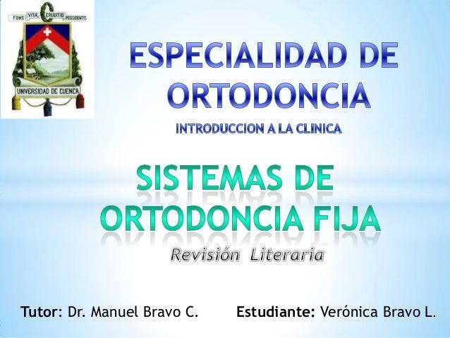 Tutor: Dr. Manuel Bravo C. Estudiante: Verónica Bravo L.