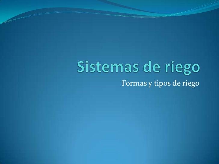 Sistemas de riego for Manual de diseno y construccion de albercas pdf