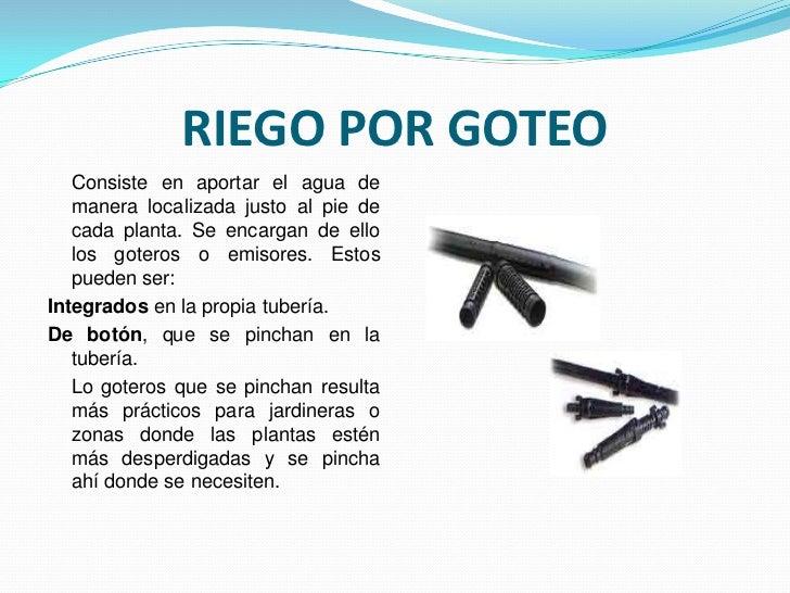 Sistemas y o tipos de riego - Sistema de riego por goteo automatizado ...