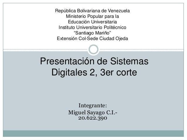 República Bolivariana de Venezuela Ministerio Popular para la Educación Universitaria Instituto Universitario Politécnico ...