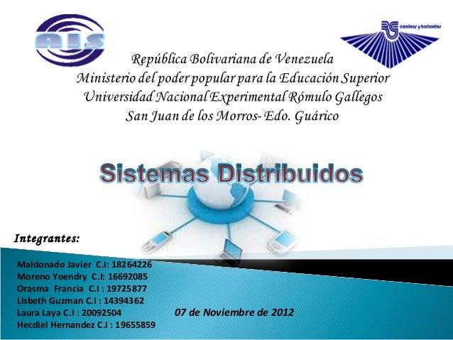 Integrantes:Maldonado Javier C.I: 18264226Moreno Yoendry C.I: 16692085Orasma Francia C.I : 19725877Lisbeth Guzman C.I : 14...