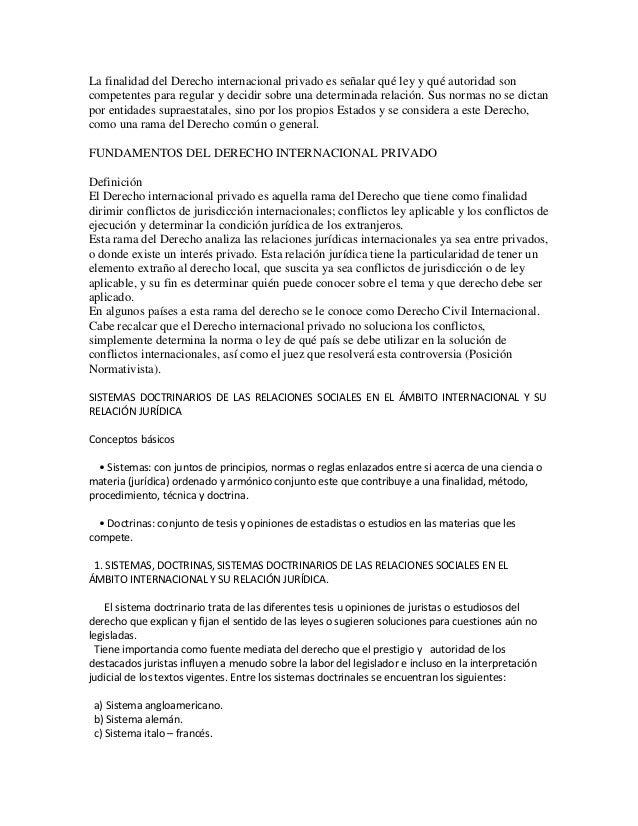 Sistemas doctrinarios de las relaciones internacionales