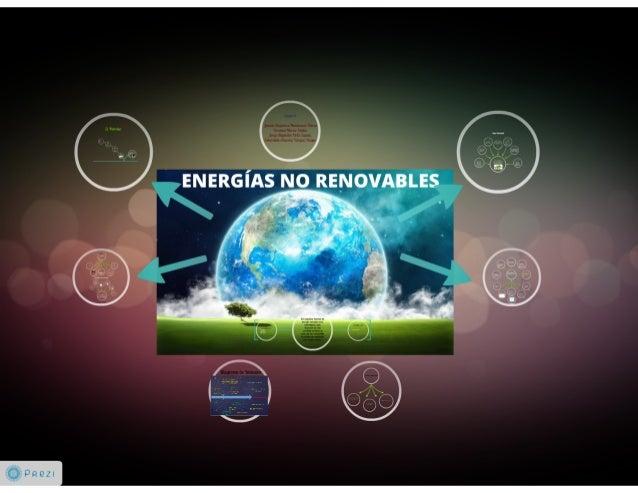 Tipos de Energía No-Renovable