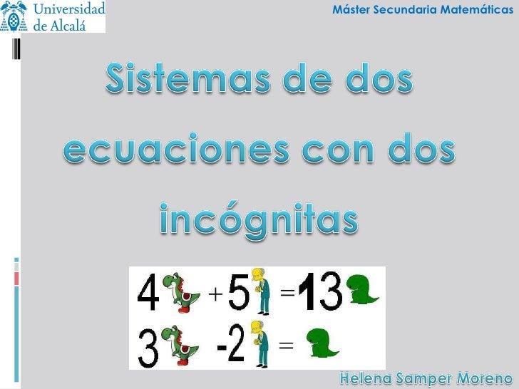 Máster Secundaria Matemáticas