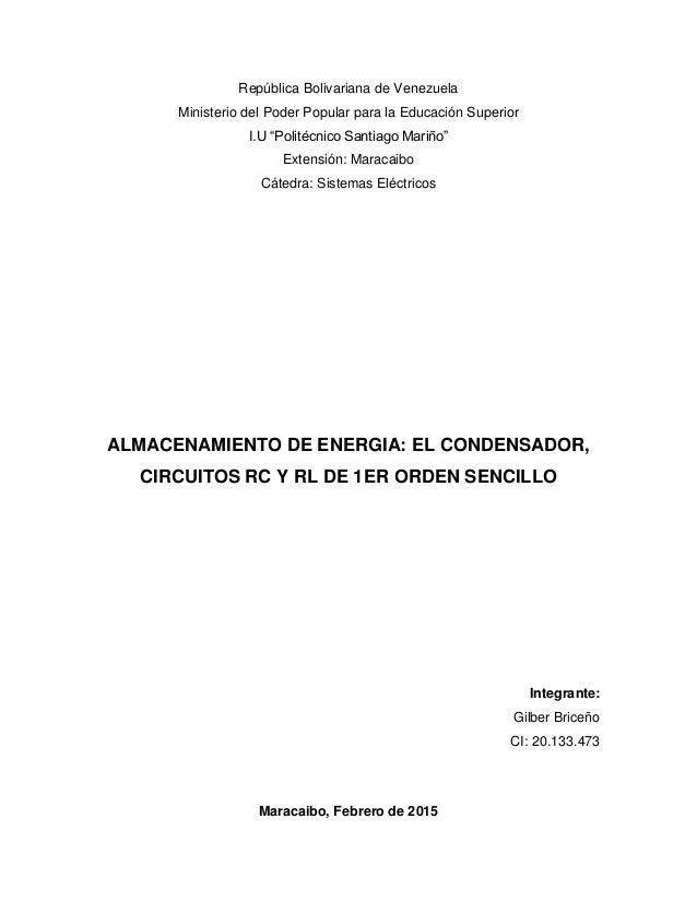 """República Bolivariana de Venezuela Ministerio del Poder Popular para la Educación Superior I.U """"Politécnico Santiago Mariñ..."""