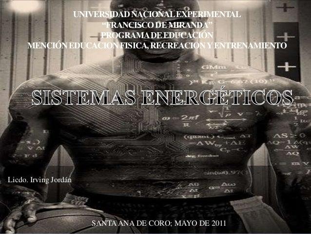 """UNIVERSIDAD NACIONAL EXPERIMENTAL  """"FRANCISCO DE MIRANDA""""  PROGRAMA DE EDUCACIÓN  MENCIÓN EDUCACION FISICA, RECREACION Y E..."""