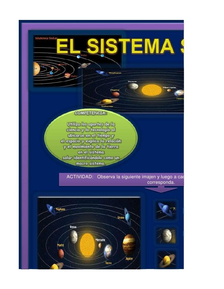 Sistema Solar. Excel
