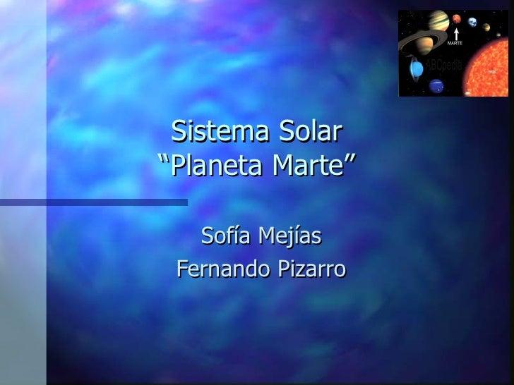 Sistema Solar Planeta Marte