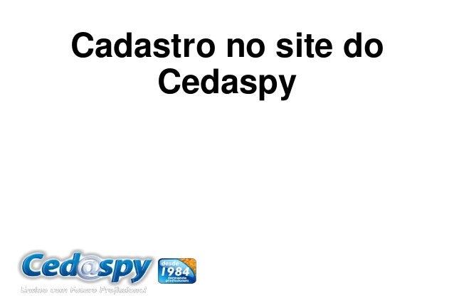 Cadastro no site do Cedaspy