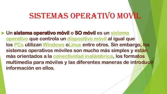 Sistemas operativo moviles