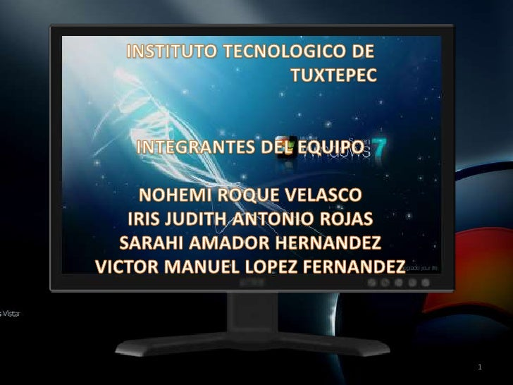 1<br />INSTITUTO TECNOLOGICO DE <br />TUXTEPEC<br />INTEGRANTES DEL EQUIPO<br />NOHEMI ROQUE VELASCO<br />IRIS JUDITH ANTO...