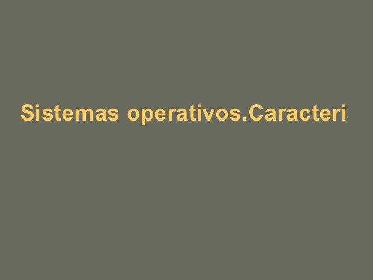 Sistemas operativos.Caracteristicas de un equipo informático. Puertos
