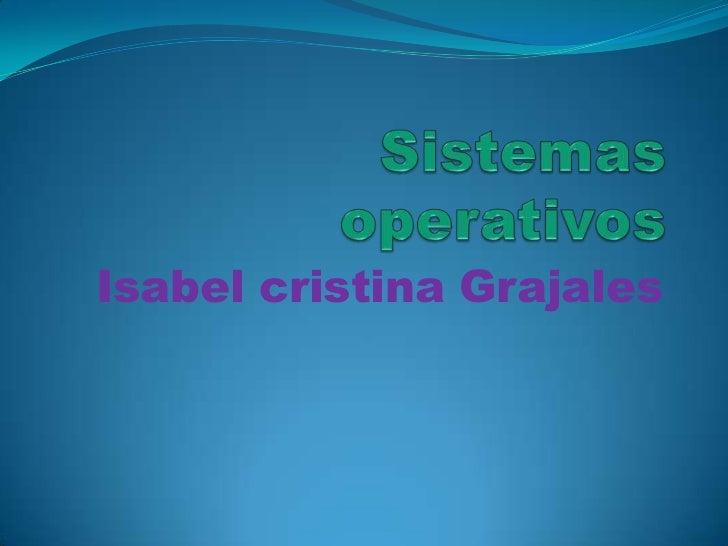 Isabel cristina Grajales