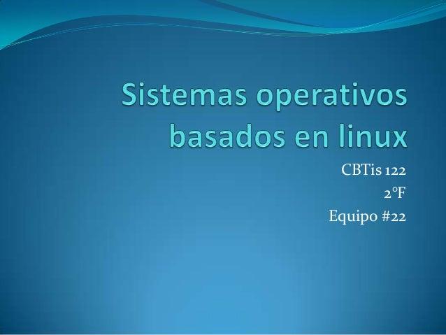 Sistemas operativos basados en linux