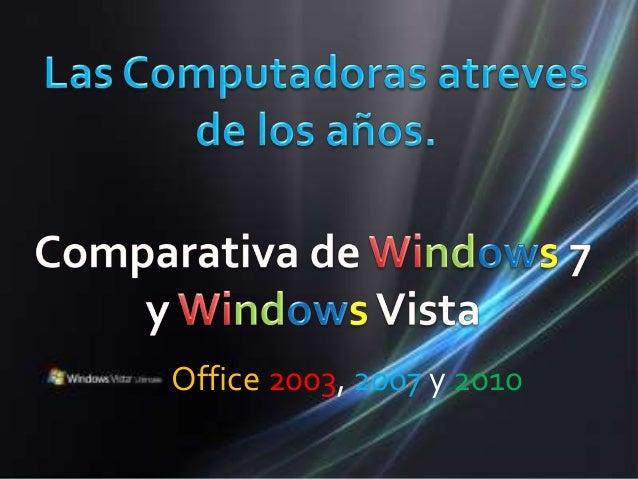 Office 2003, 2007 y 2010