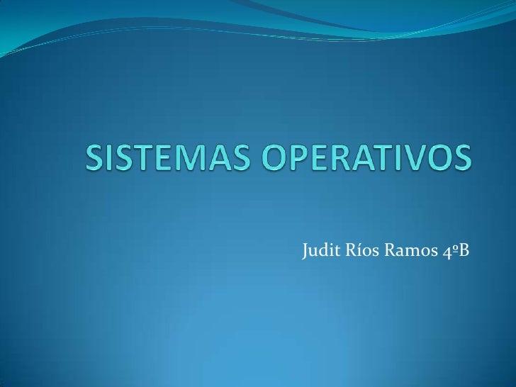 Judit Ríos Ramos 4ºB