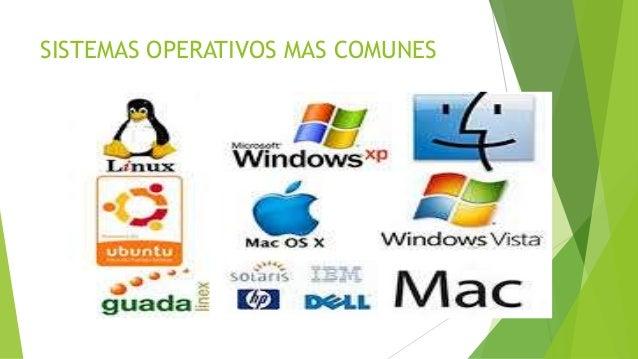 SISTEMAS OPERATIVOS MAS COMUNES