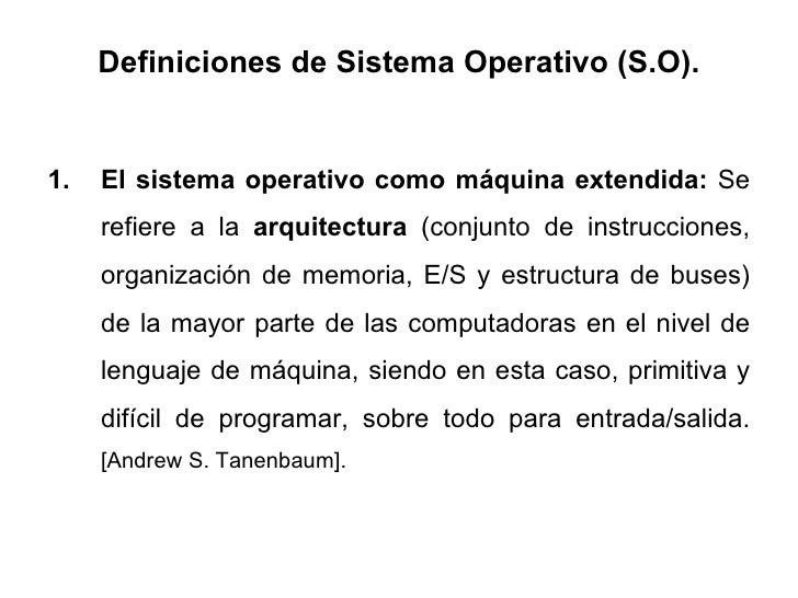 Sistemas operativos om