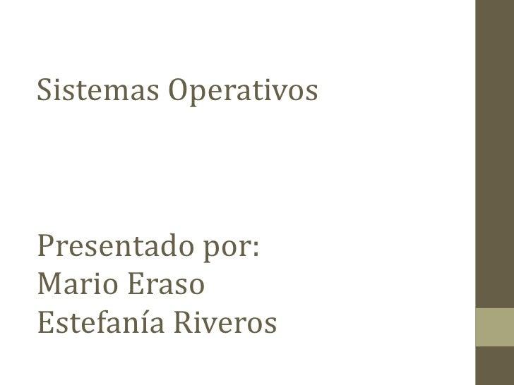 Sistemas operativos open