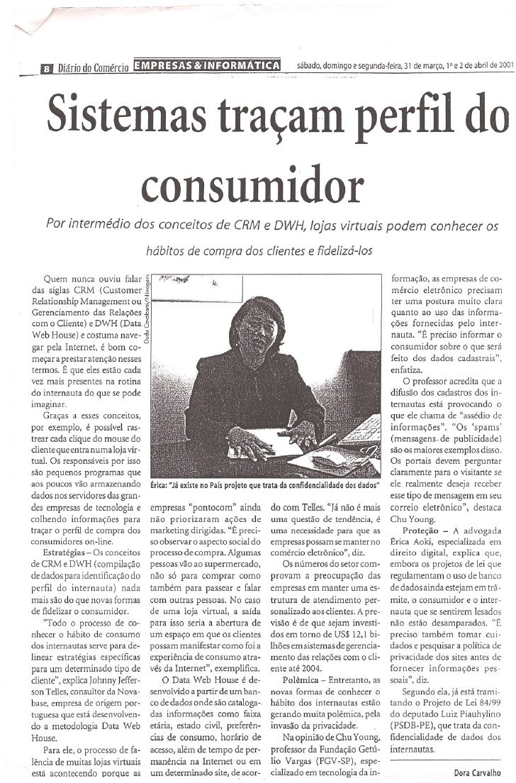 sábado, domingo    e segunda-feira,   31 de março, 1° e 2 de abril de 2001  DJiário      dQ.   Comércio    Sistemas traçam...