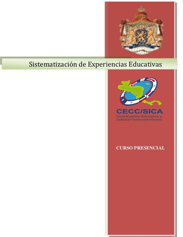 1Sistematización de Experiencias EducativasCURSO PRESENCIAL