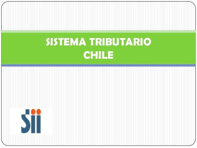 Sistema tributario   chile