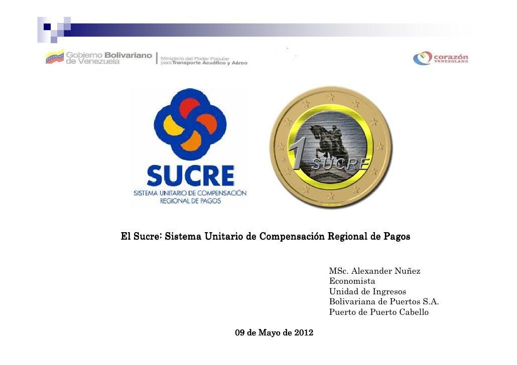 CompensacióEl Sucre: Sistema Unitario de Compensación Regional de Pagos                                            MSc. Al...
