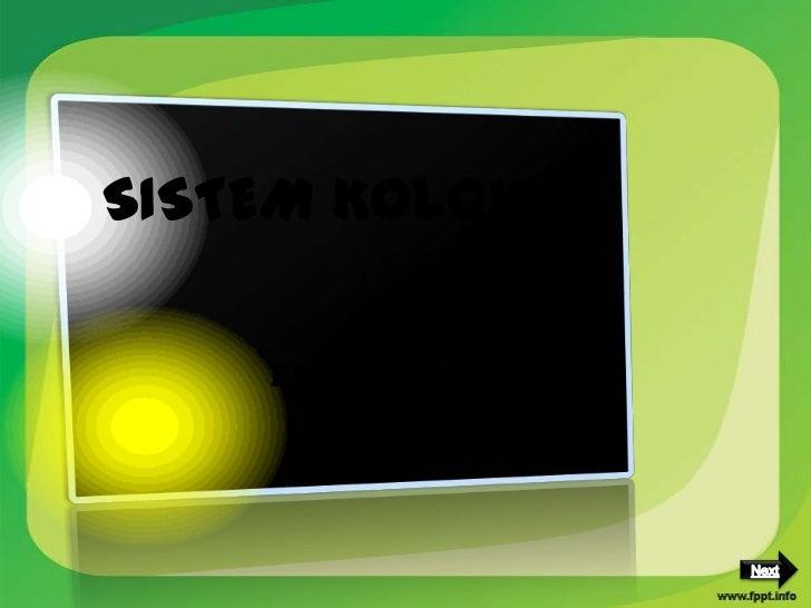 Sistem koloid kimia sma