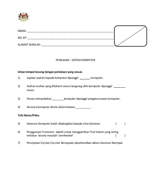 KEMENTERIAN PENDIDIKAN MALAYSIA PROGRAM LATIHAN KHAS UNTUK GURU MATA PELAJARAN TEKNOLOGI MAKLUMAT DAN KOMUNIKASI TAHUN 4 K...