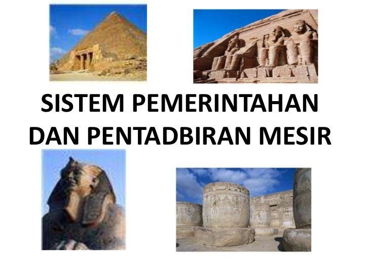 Sistem pemerintahan dan pentadbiran mesir