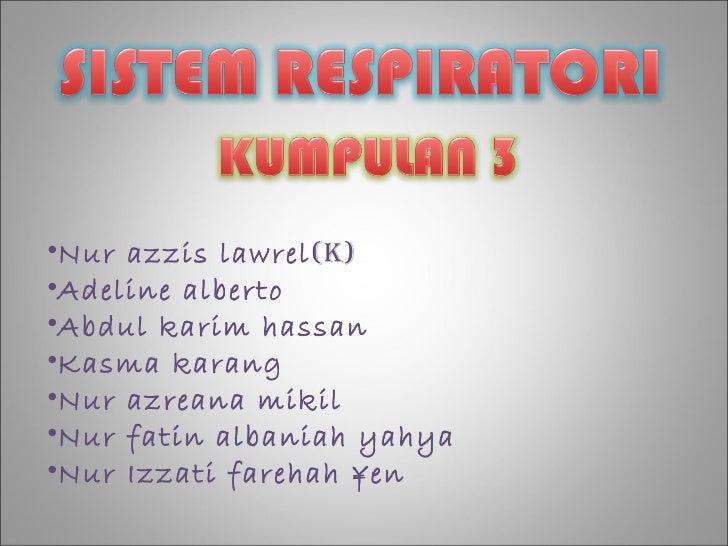 •Nur azzis lawrel (k)•Adeline alberto•Abdul karim hassan•Kasma karang•Nur azreana mikil•Nur fatin albaniah yahya•Nur Izzat...