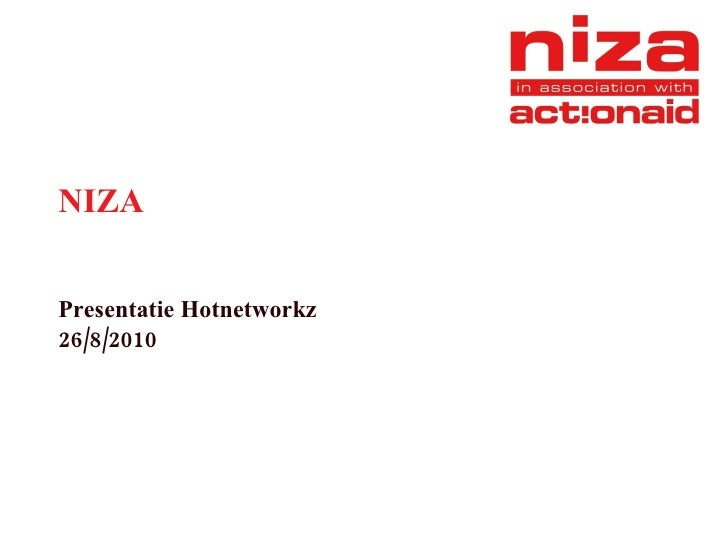 NIZA Presentatie Hotnetworkz 26/8/2010