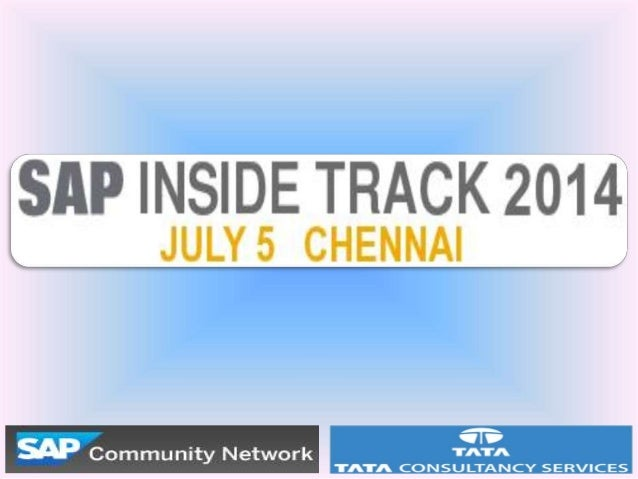 Old Saga • SAP Inside Track grew out of the SDN Day which was a day before SAP TechEd the premier SAP Technical conference...