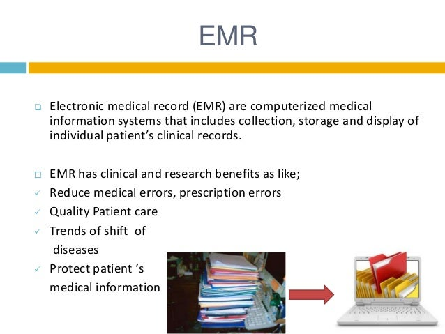 electronic medical records systems essay Health it systems is especially example if a government agency learns from electronic records that while each provider site keeps its own medical records.