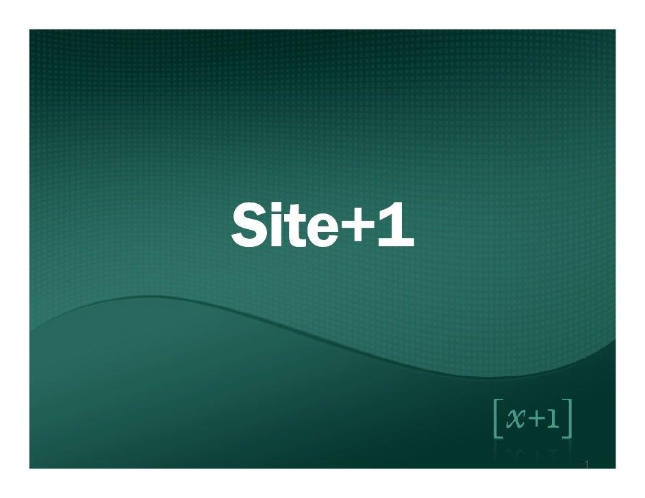 Site+1 Description