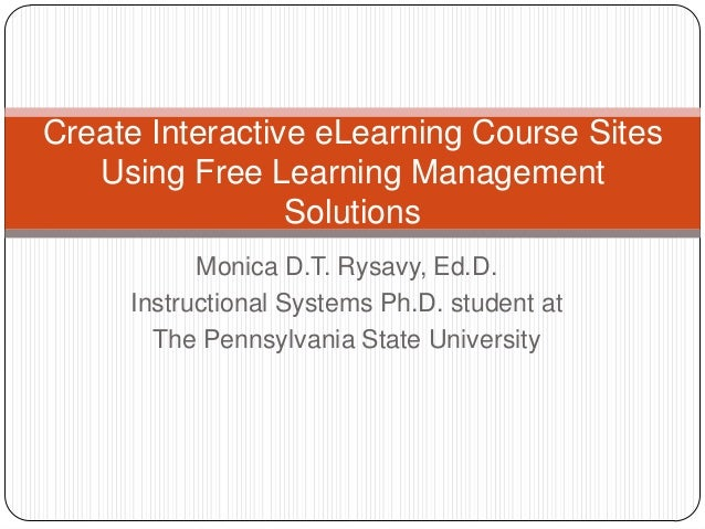 Create interactive eLearning course sites using free Learning Management Solutions