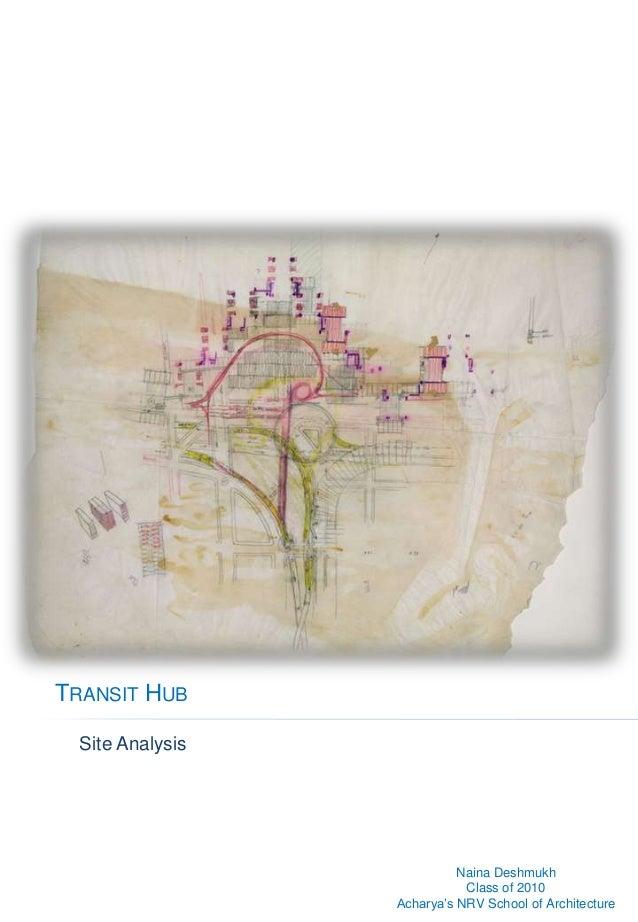Site analysis - Transit hub