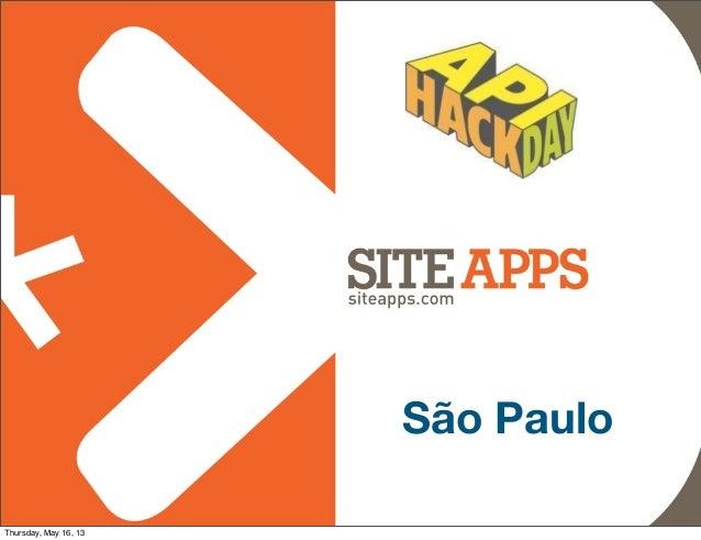 SiteApps - API Hack Day SP 2013