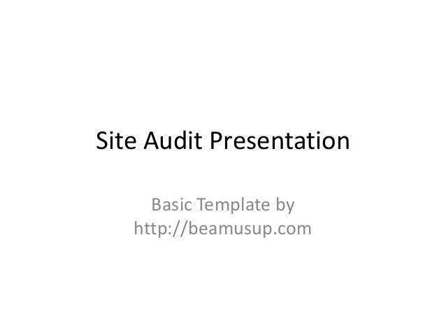 Site audit presentation powerpoint template