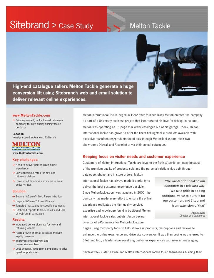 Sitebrand                               Case Study                                  Melton Tackle     High-end catalogue s...