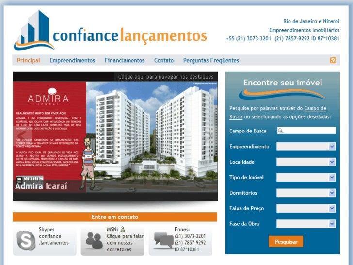 Admira Icaraí - CONFIANCE LANCAMENTOS (21) 3073-3201