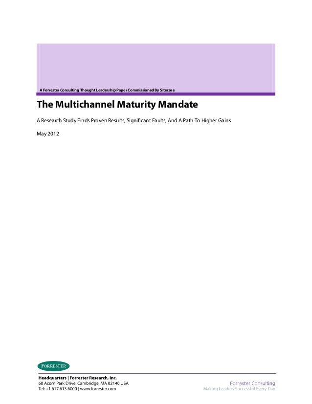 Sitecore Multichannel Marketing Mandate