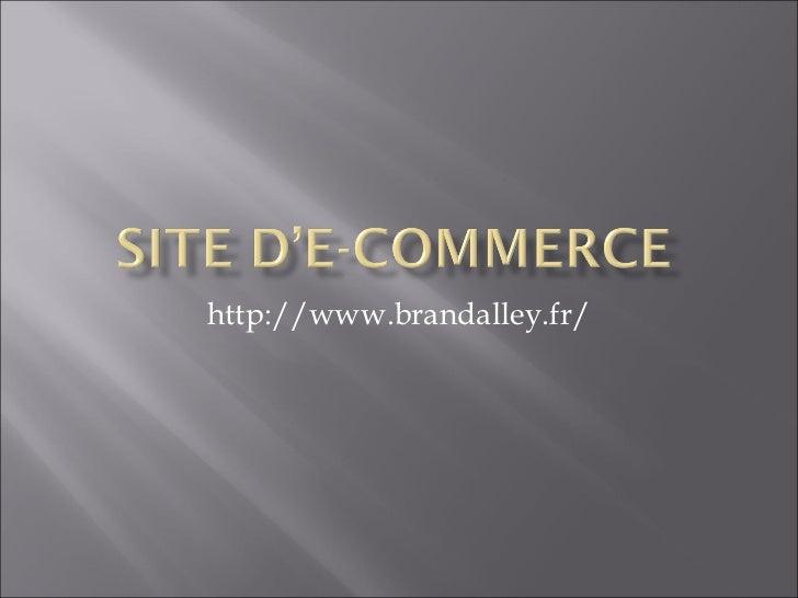Analyse des sites d'E-commerce