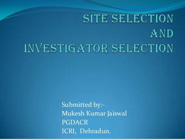 Submitted by:-Mukesh Kumar JaiswalPGDACRICRI, Dehradun.