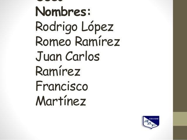 Óseo Nombres: Rodrigo López Romeo Ramírez Juan Carlos Ramírez Francisco Martínez