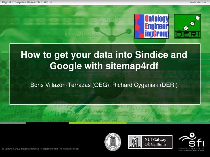 How to get your data into Sindice and Google with sitemap4rdf