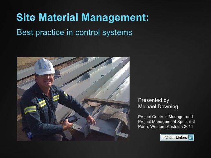 Site Material Management